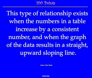 CMP2 - Thinking with Mathematical Models - Jeopardy Review Game