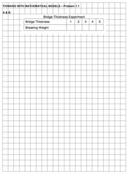 CMP2 - Thinking with Mathematical Models - Problem 1.1 worksheet