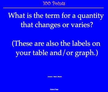 CMP2 - Variables and Patterns - Jeopardy Review Game