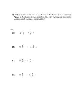 CMP3 6th Grade Math Test: Let's Be Rational