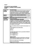 CMP3 6th grade lesson plan - lesson 1.1