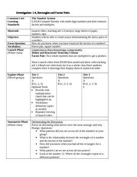 CMP3 6th grade lesson plan - lesson 1.2-1.4 (rest of Investigation 1