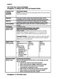 CMP3 6th grade lesson plan - lesson 1.2-1.4 (rest of Inves