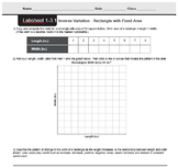 CMP3 - 8th Grade - Unit 1 Inv. 3.1, 3.2 - Inverse Variation