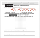 CMP3 - 8th Grade-Unit 1 Inv. 1.3c - Finding Linear & Nonlinear Patterns