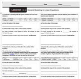 CMP3 - 8th Grade - Unit 1 - Thinking with Mathematical Models - All Labsheets