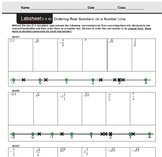 CMP3 - 8th Grade - Unit 2 Inv. 4.4b - Ordering Real Number
