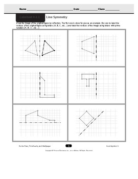 CMP3 - 8th Grade - Unit 4 Inv  1 1 - Line Symmetry