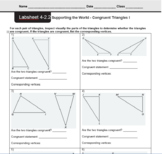 CMP3 - 8th Grade - Unit 4 Inv. 2.2 & 2.3 - Congruent Triangles I and II