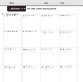 CMP3 - 8th Grade - Unit 4 Inv. 4.4b - Two-Step & Multi-Step Equations