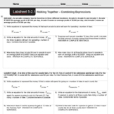 CMP3 - 8th Grade - Unit 5 - Say It With Symbols - All Labsheets