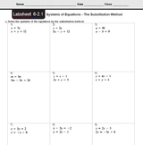 CMP3 - 8th Grade - Unit 6 Inv. 2.1 - Systems of Equations