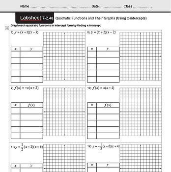 CMP3 - 8th Grade - Unit 7 Inv. 2.4a - Quadratic Functions (Axis of Symmetry)