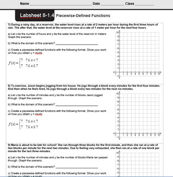 CMP3 - 8th Grade - Unit 8 Inv. 1.4 - Piecewise-Defined Functions