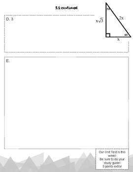 CMP3 Looking for Pythagoras Investigation 5 Resources (Pythagorean Theorem)