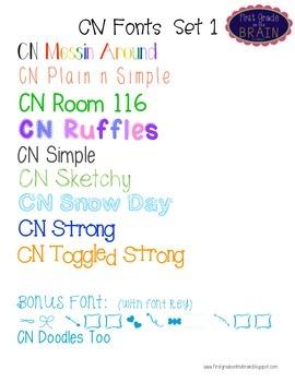 CN Fonts Set 1