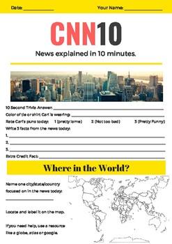 CNN 10 Adapted Worksheet
