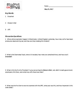 CNN 10 Daily Worksheet May 23