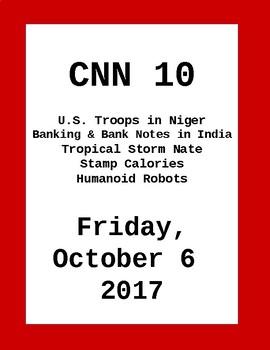CNN 10: Friday, October 06, 2017- NO PREP!