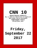 CNN 10: Friday, September 22, 2017- NO PREP!