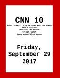 CNN 10: Friday, September 29, 2017- NO PREP!