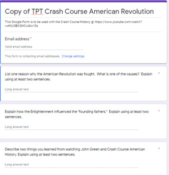 CNN 10 Google Forms Response Questions 1
