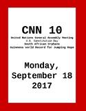 CNN 10: Monday, September 18, 2017 - NO PREP!