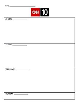CNN 10 Notes and Summary (Week)