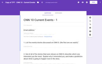 CNN 10 Response Questions - Google Form
