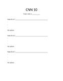 CNN 10 Student Worksheet