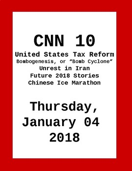 Look for FREE: CNN 10: Thursday January 04, 2018- NO PREP!
