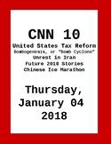 Look for FREE: CNN 10: Thursday January 04, 2018- NO PREP!