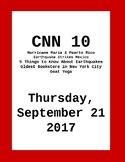 CNN 10: Thursday, September 21, 2017- NO PREP!