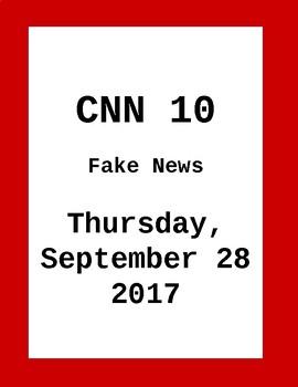CNN 10: Thursday, September 28, 2017- NO PREP!