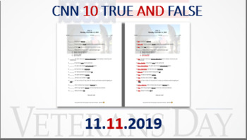 CNN 10 True and False: 11.11.19