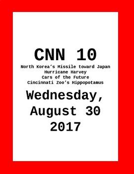 CNN 10: Wednesday, August 30, 2017 - NO PREP!