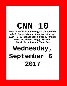 CNN 10: Wednesday, September 06, 2017 - NO PREP!