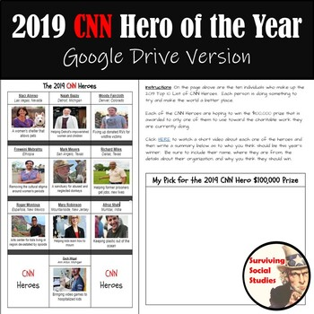 CNN Hero of the Year - Link to Videos, Writing Entry, & Survey Instructions