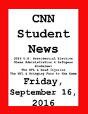 CNN Student News: Friday, September 16, 2016 - NO PREP!