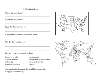 Cnn Student News Graphic Organizer By Stacie Macwilliams Tpt