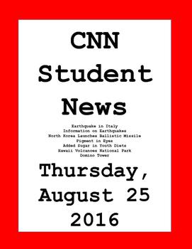 CNN Student News: Thursday, August 25, 2016