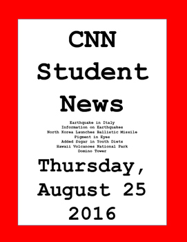 CNN Student News: Thursday, August 25, 2016