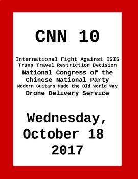 CNN Student News: Wednesday, October 18, 2016