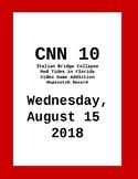 CNN10: Wednesday, August 15, 2018 NO PREP!