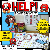 COARTICULATION Vocalic R VISUALS NO PREP SPEECH THERAPY worksheets