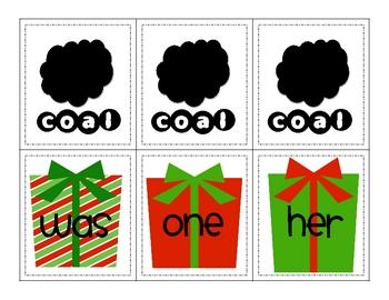 COAL-A Christmas Sight Word Game