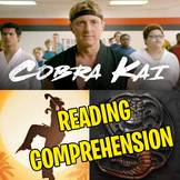 COBRA KAI - THE KARATE KID SAGA CONTINUES: Worksheet │ Rea