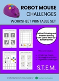 CODE-AND-GO ROBOT MOUSE CHALLENGES - Worksheet Printable Set