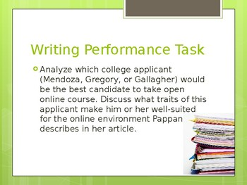 CODE X Writing Performance Task 8TH GRADE