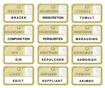 CODEWORDS - a Vocabulary Review Game